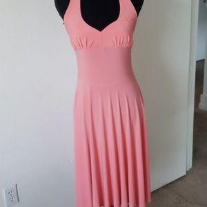 💄Venus Pink Halter Dress